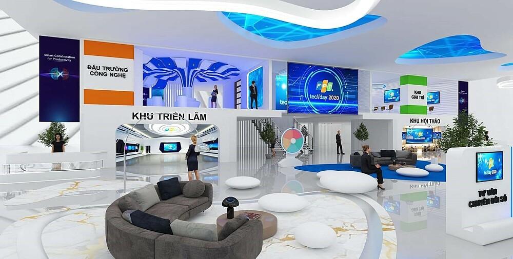 Không gian trải nghiệm online tại FPT Techday 2020.