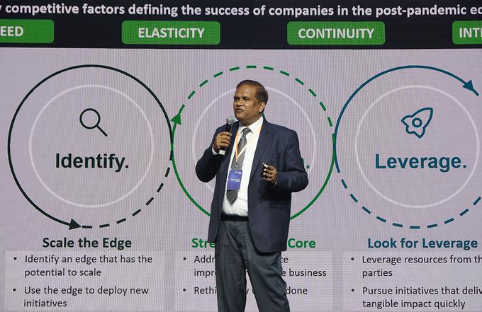 Ba yếu tố cho thành công của doanh nghiệp là Tốc độ chuyển đổi, Sự linh hoạt và Tận dụng lợi thế về trí tuệ nhân tạo, mạng lưới, đối tác.