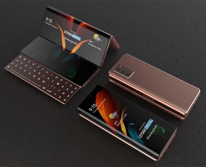 Ý tưởng Galaxy Z Fold3. Ảnh: Letsgodigital