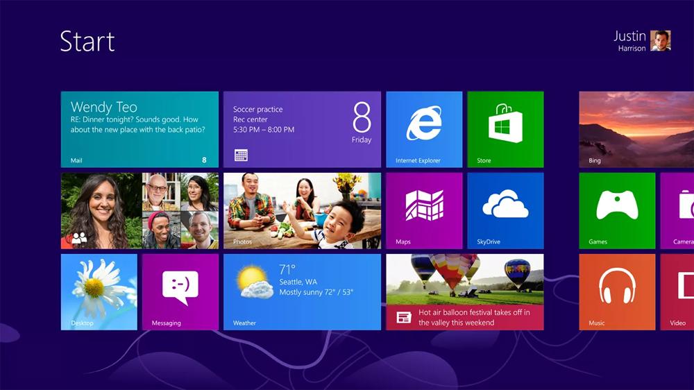 Windows 8 (2012) được thiết kế lại hoàn toàn, khác với giao diện Windows quen thuộc. Microsoft loại menu Start và thay bằng giao diện Start toàn màn hình. Đồng thời, họ cũng rất chú tâm vào màn hình cảm ứng cũng như máy tính bảng khi dùng các ứng dụng Metro-style mới thay thế cho ứng dụng desktop lỗi thời. Tuy nhiên, giao diện hoàn toàn mới khiến người dùng gặp đôi chút khó khăn. Vì vậy, Microsoft đã phải xem xét lại các bản thiết kế Windows cho sau này.