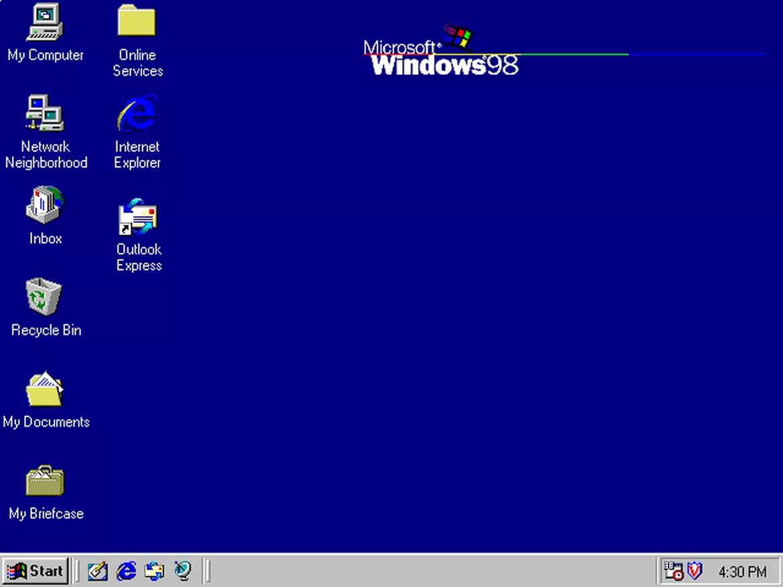 Tiếp nối thành công của Windows 95, Windows 98 cải thiện hiệu suất và nâng cao hỗ trợ phần cứng. Một số ứng dụng mới được bổ sung như Active Desktop, Outlook Express, Frontpage Express, Microsoft Chat và NetMeeting.