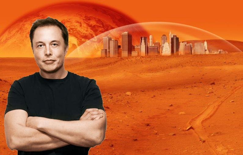 Musk đang có tham vọng biến sao Hỏa thành nơi ở mới cho con người.