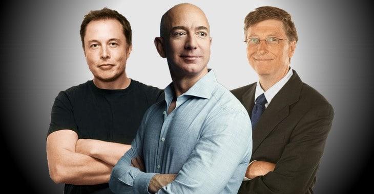 Từ trái sang: Elon Musk, Jeff Bezos và Bill Gates. Ảnh: Graham Cluley/Twitter.