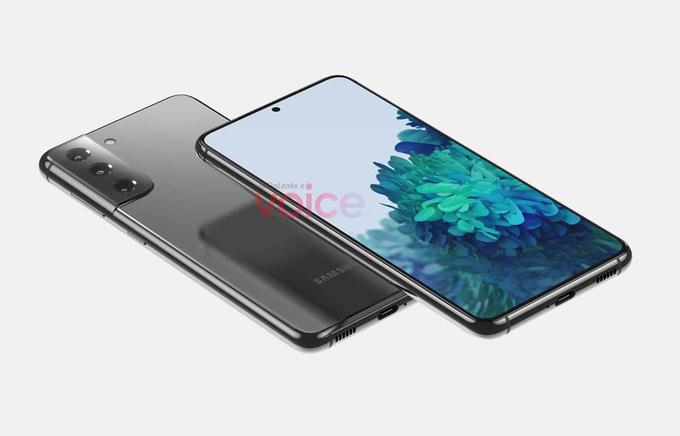 Ảnh dựng CAD của Samsung Galaxy S21.