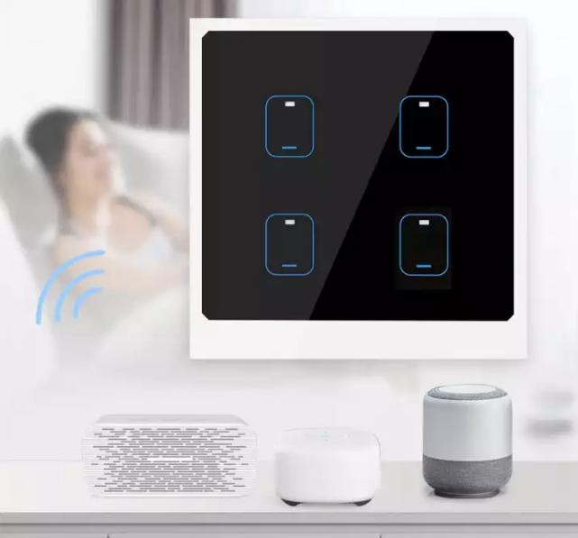 Công tắc thông minh cảm ứng Wi-Fi. Ảnh: Lazada.