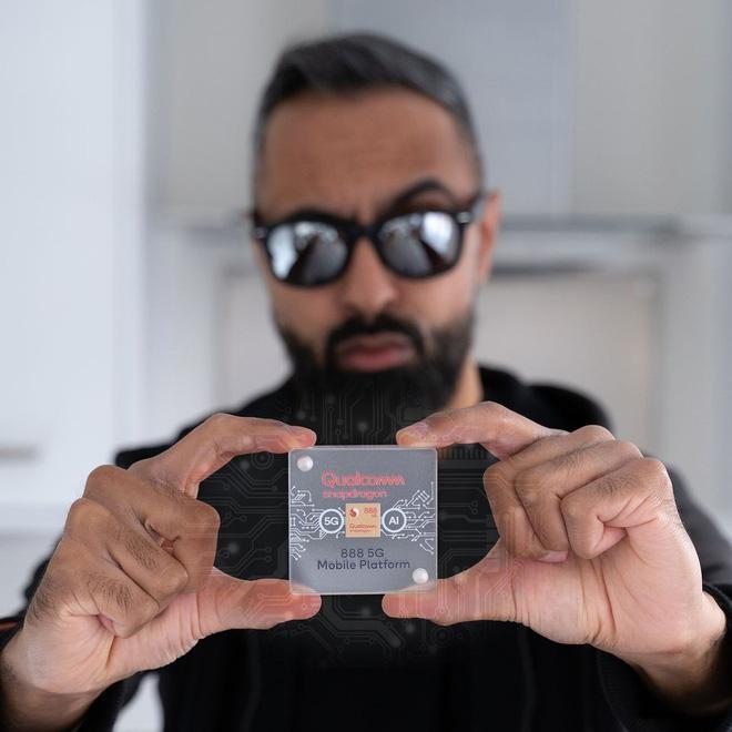 Snapdragon 888 được trang bị 5G và nâng cấp mạnh về hiệu năng. Ảnh: Qualcomm.