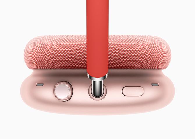 Núm xoay như trên Apple Watch của AirPods Max.