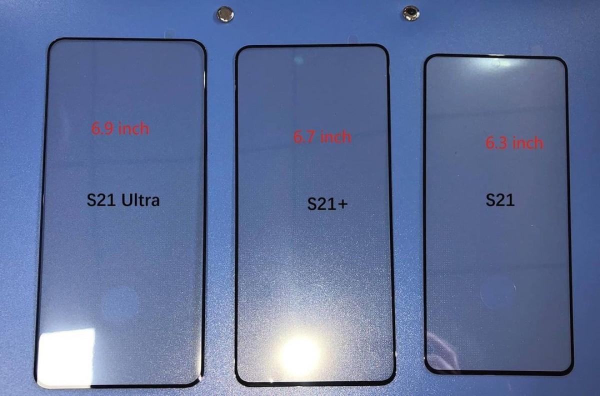 Kính bảo vệ màn hình được cho là của bộ ba Galaxy S mới. Ảnh: Ice Universe.