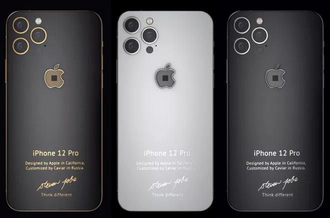 Ba phiên bản iPhone 12 được làm mới. Ảnh: Caviar.