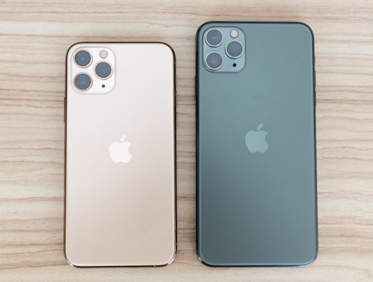 iPhone 11 Pro (bên trái) và iPhone 11 Pro Max. Ảnh: Huy Đức
