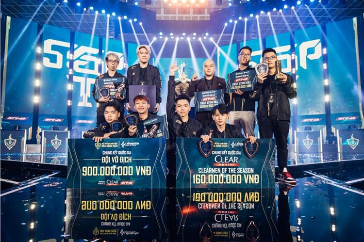 Đội tuyển Saigon Phantom nhận 900 triệu đồng tiền thưởng khi vô địch Đấu trường danh vọng mùa Đông 2020. Ảnh: Liên Quân Mobile.