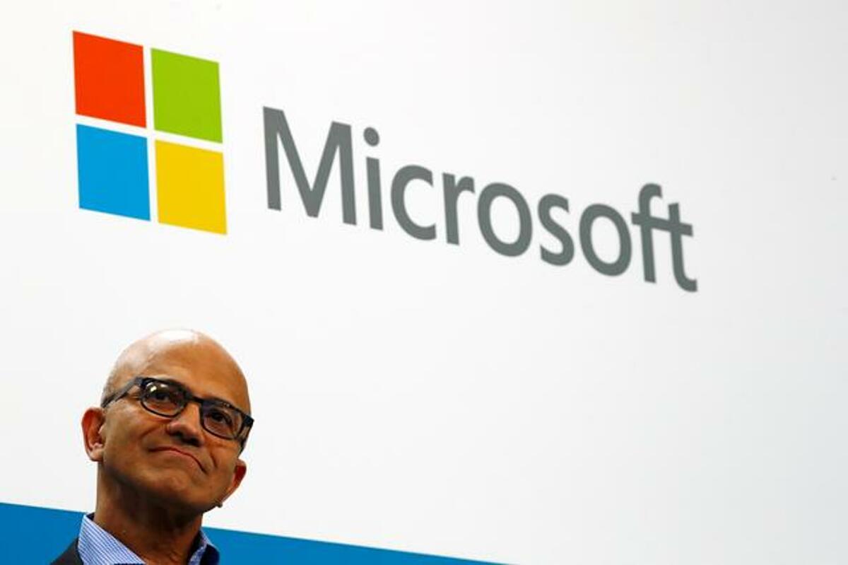 Satya Nadella, CEO của Microsoft. Ảnh: Reuter.