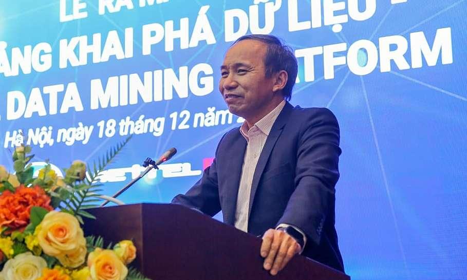 Ông Nguyễn Trọng Đường phát biểu tại lẽ ra mắt Viettel Data Mining Platform được tổ chức hôm 18/12.