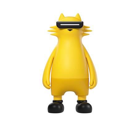 Realmeow có màu vàng đặc trưng thương hiệu Realme.