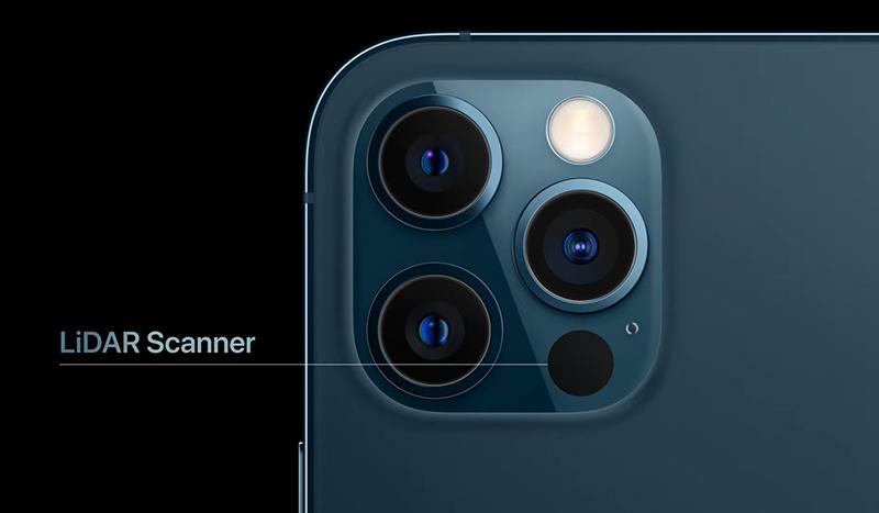 Cảm biến LiDAR là một trong những nâng cấp của Apple cho iPhone 12.
