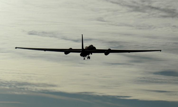 Máy bay U-2 trong chuyến thử nghiệm hôm 15/12. Ảnh: Không quân Mỹ.