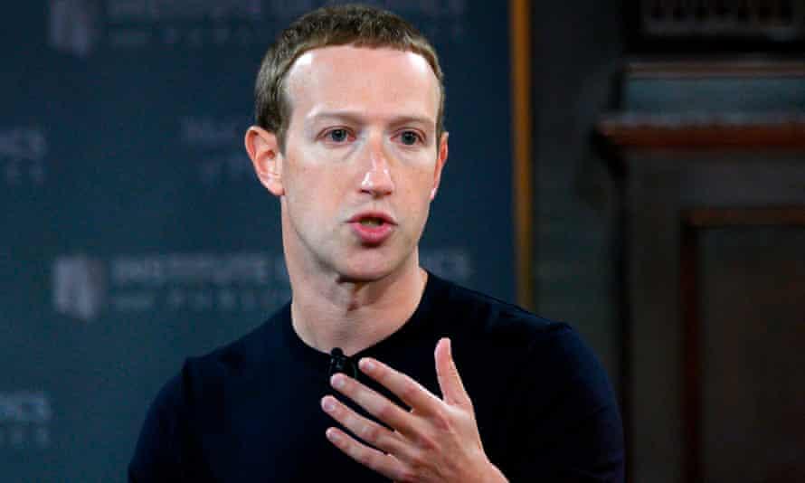 CEO Facebook, Mark Zuckerberg. Ảnh: The Guardian.