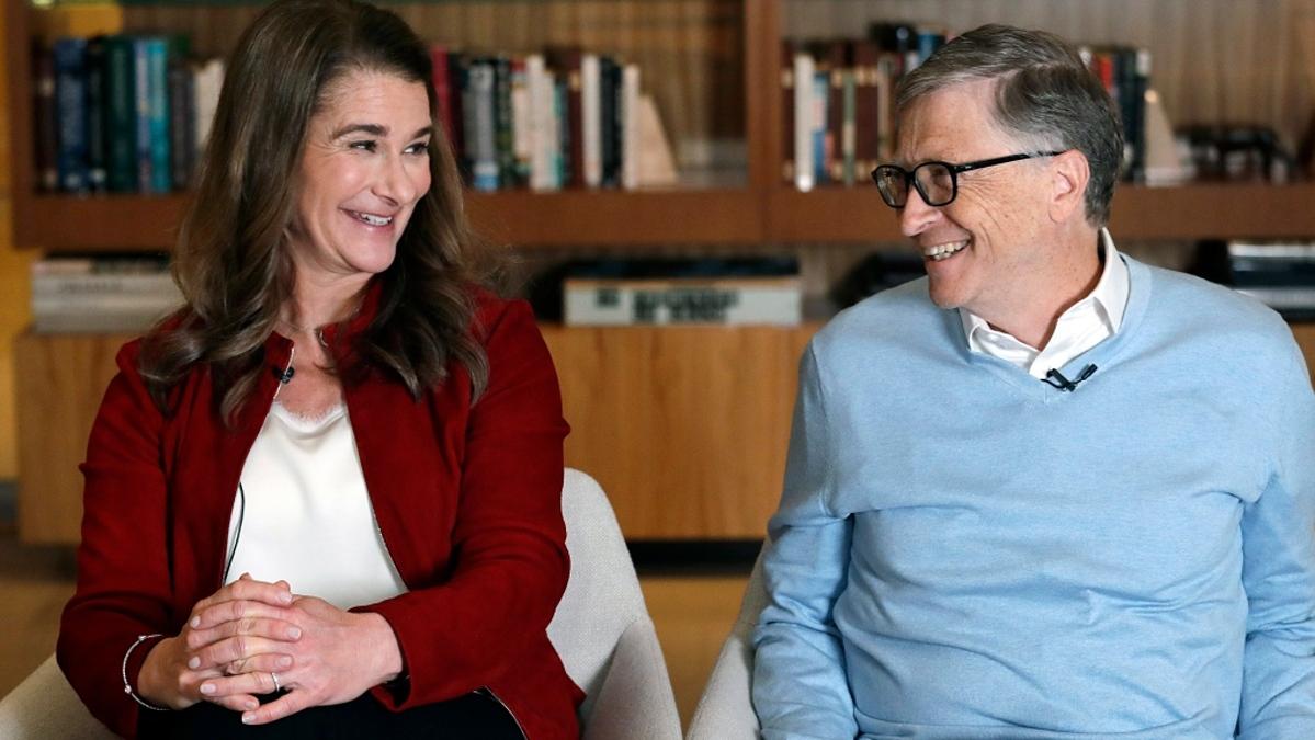 Melinda Gates và Bill Gates. Ảnh: AP