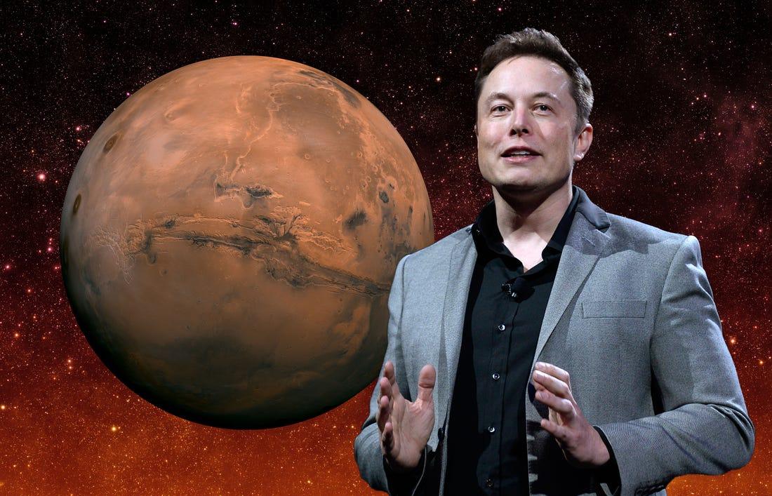 Elon Musk có tham vọng lớn về việc thuộc địa hóa sao Hỏa. Ảnh: BI.