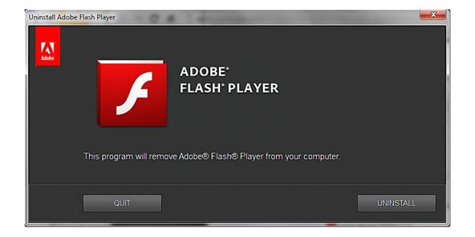 Adobe khuyên người dùng gỡ cài đặt Flash ngay lập tức.