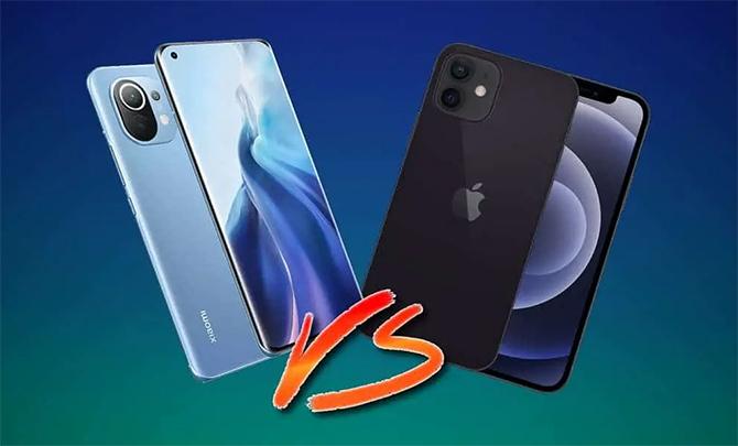 Xiaomi Mi 11 và iPhone 12 có chi phí sản xuất bằng nhau. Ảnh: Gizchina