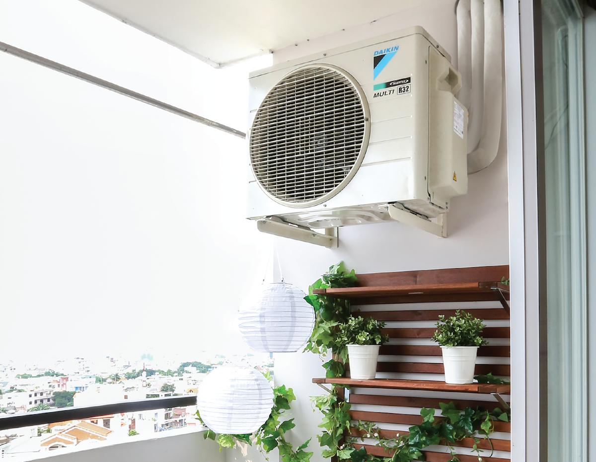 Điều hòa Multi S giúp tối ưu không gian ban công ở các căn hộ chung cư Ảnh: Daikin