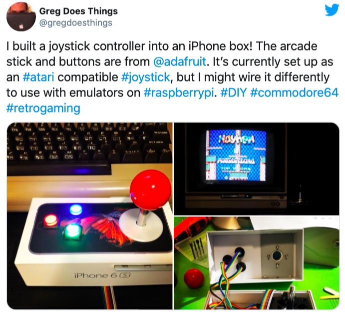 Một người khác chế hộp iPhone 6s thành joystick chơi game.