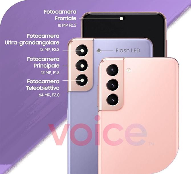 Configuración de la cámara Galaxy S21 y S21 +.  Foto: Voz