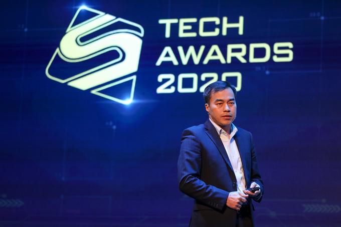 Ông Đặng Kim Long, Giám đốc truyền thông Huawei Việt Nam chia sẻ về chủ đề Chuẩn bị tâm thế chào đón kỷ nguyên kết nối mới tại diễn đàn công nghệ Tech Awards 2020.