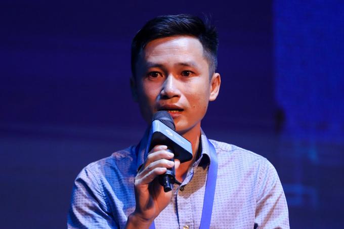 Trần Duy Phong - đại diện startup Tép Bạc, đội vô địch Startup Việt 2020 do VnExpress tổ chức.