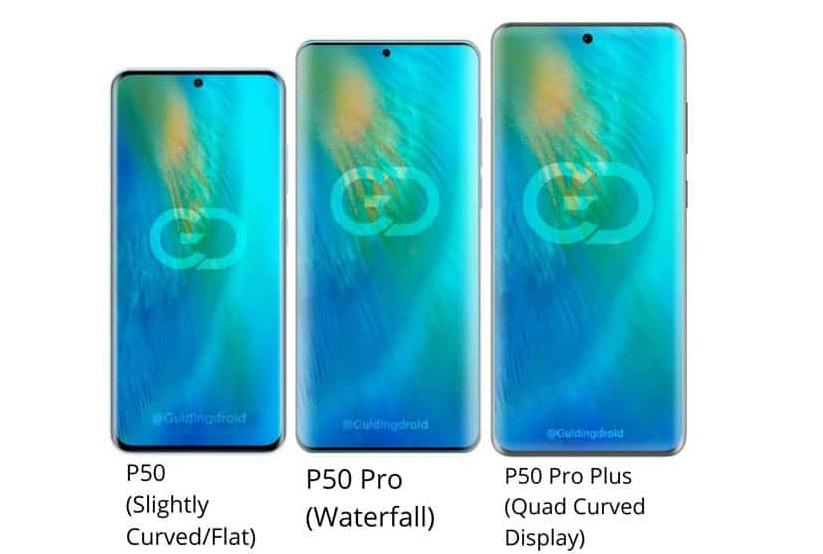 Ba phiên bản P50 sẽ có kiểu màn hình khác nhau.