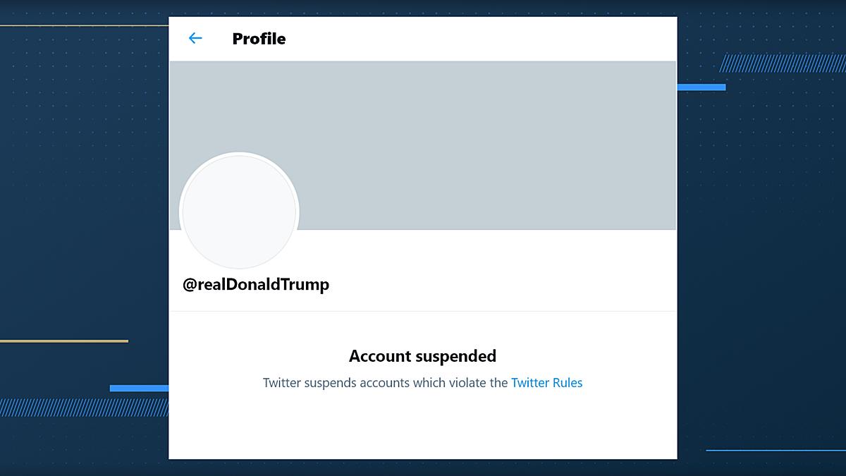 Ngày 8/1, tài khoản Twitter của ông Trump đã bị khoá. Ảnh:ABC27.