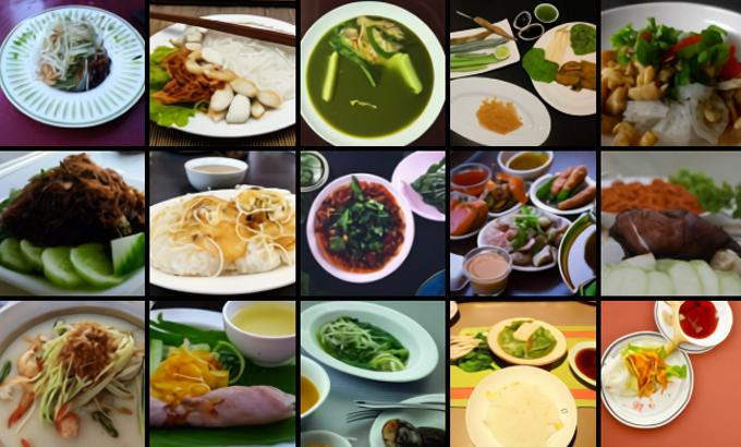 Hình ảnh tạo ra bởi DALL-E với từ khóa gợi ý: Món ăn Việt Nam.