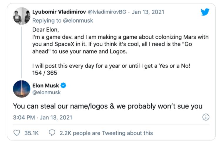 Được Elon Musk phản hồi sau hơn 150 lần nhắn tin