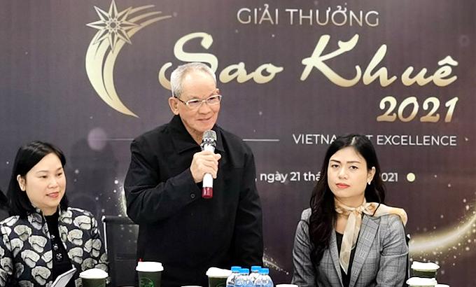 TS. Mai Liêm Trực trong lễ phát động Giải thưởng Sao Khuê 2021 tại Hà Nội ngày 21/1.