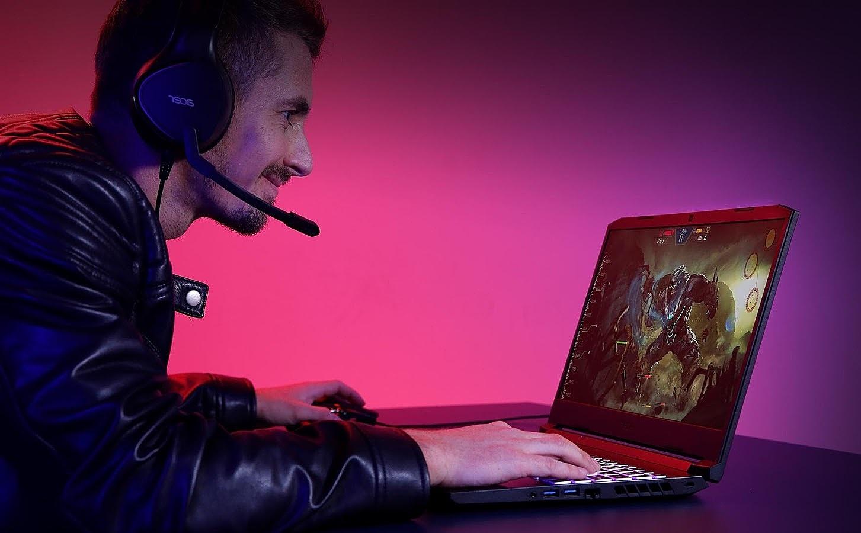 Card đồ họa Nvidia GeForce GTX 1650 Ti trên Nitro 5 giúp đồ họa các tựa game mượt mà. Ảnh: Acer.