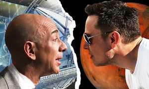 Elon Musk và Jeff Bezos tranh giành không gian cho vệ tinh
