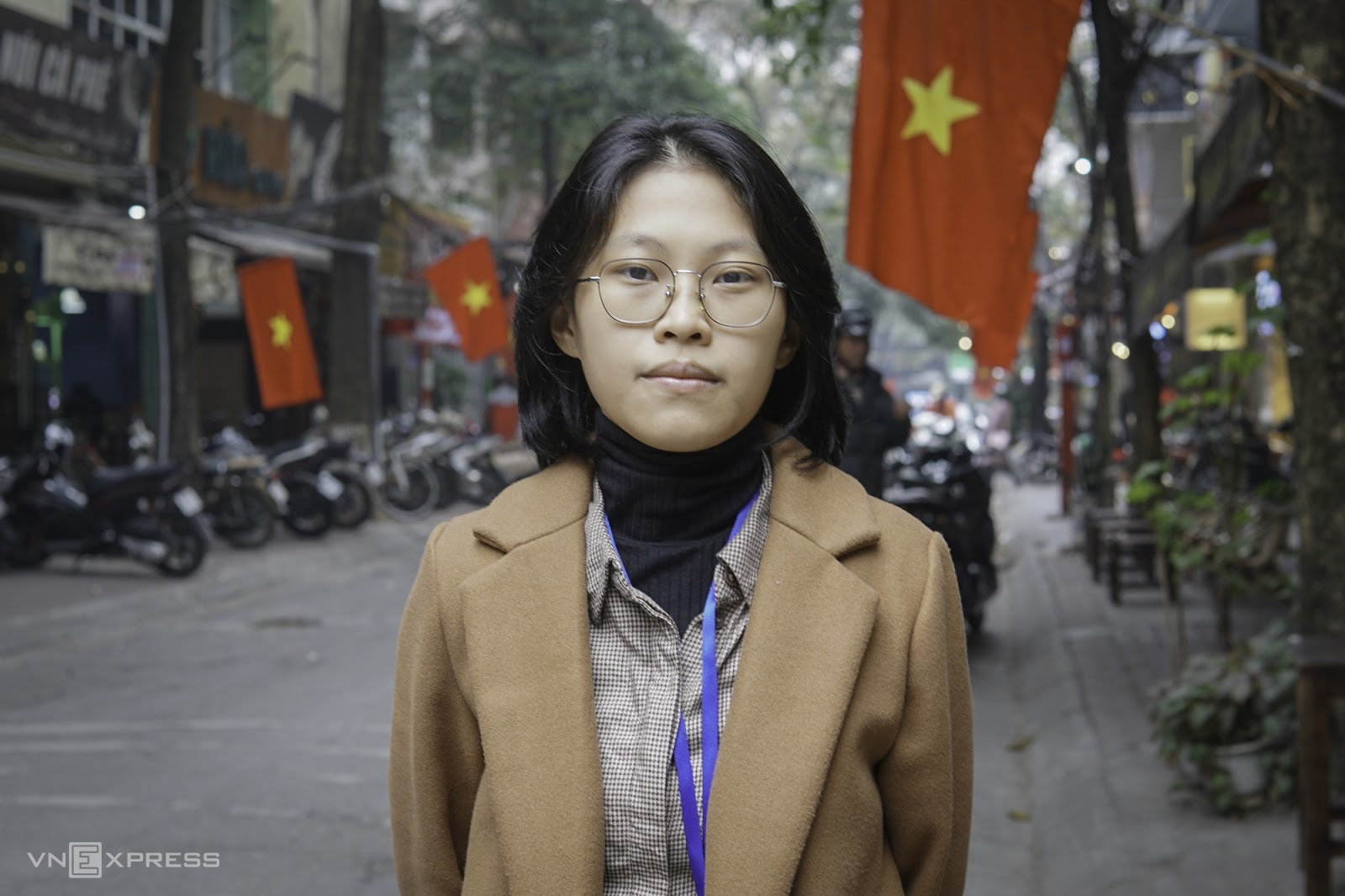 Lê Mỹ Quỳnh đang là sinh viên năm cuối ngành An toàn thông tin. Ảnh: Lưu Quý