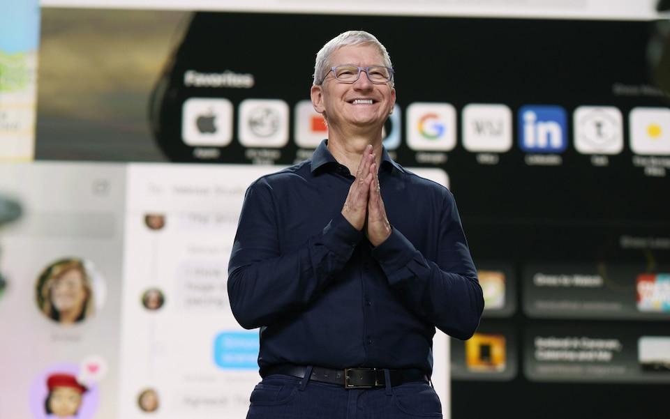 CEO Apple Tim Cook. Ảnh: Telegraph.