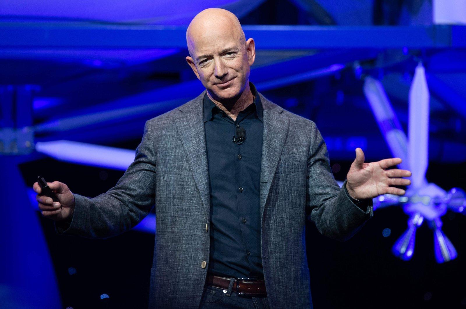 Jeff Bezos trong một sự kiện hồi tháng 5/2019 ở Washington DC. Ảnh: AFP.