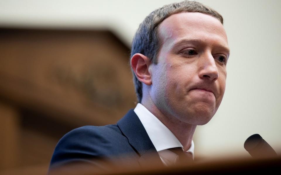 CEO Facebook Mark Zuckerberg. Ảnh: Telegraph.