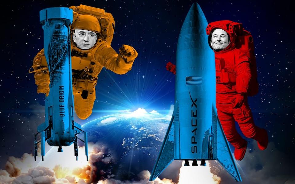 Cuộc đua vũ trụ giữa Jeff Bezos và Elon Musk ngày càng nóng