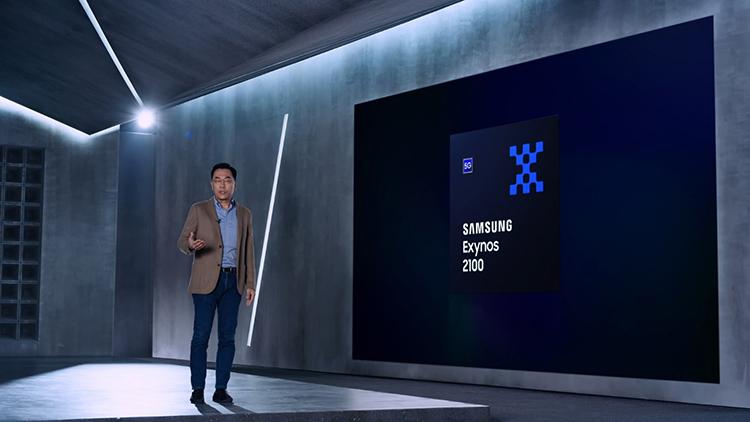 Tiến sĩ Inyup Kang – Giám đốc bộ phận System LSI Business giới thiệu về tính năng vượt trội của Exynos 2100. Nguồn: Samsung.