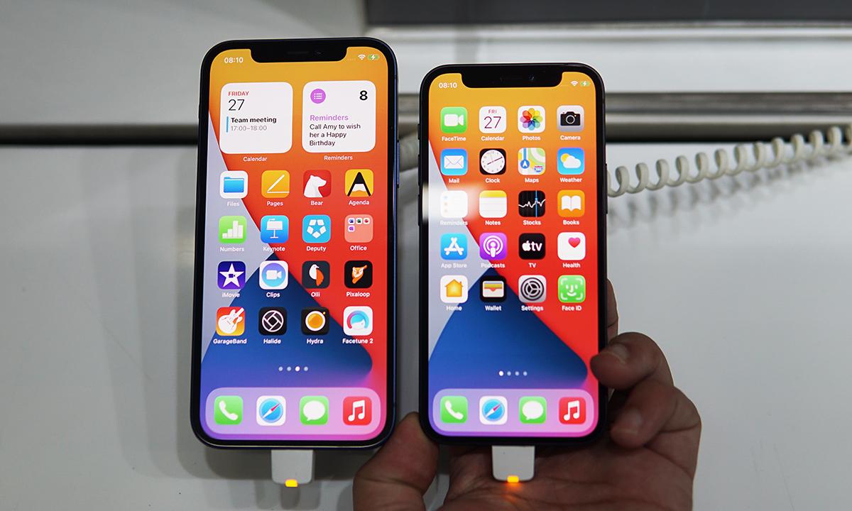 iPhone 12 và 12 mini có thể bị cắt giảm lượng sản xuất. Ảnh: Lưu Quý