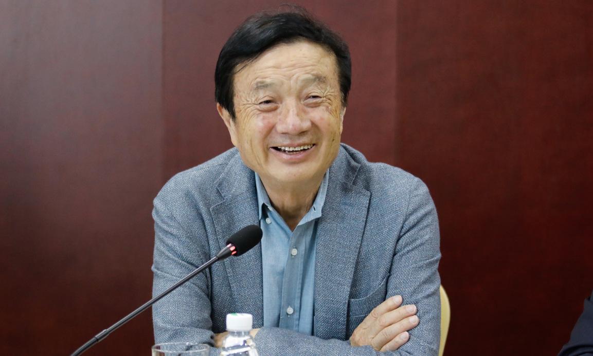 Nhậm Chính Phi trong cuộc họp báo ở Sơn Tây hồi tuần trước. Ảnh: SCMP.