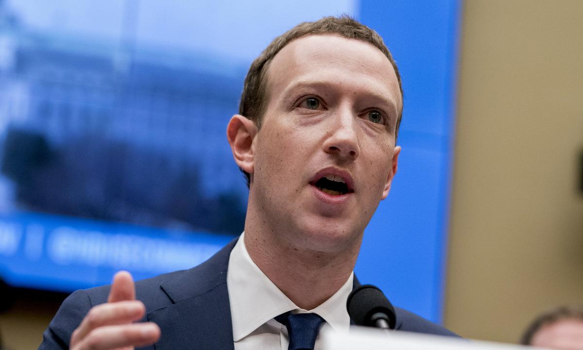 Mark Zuckerberg điều trần trước Thượng viện Mỹ năm 2019. Ảnh: AP.