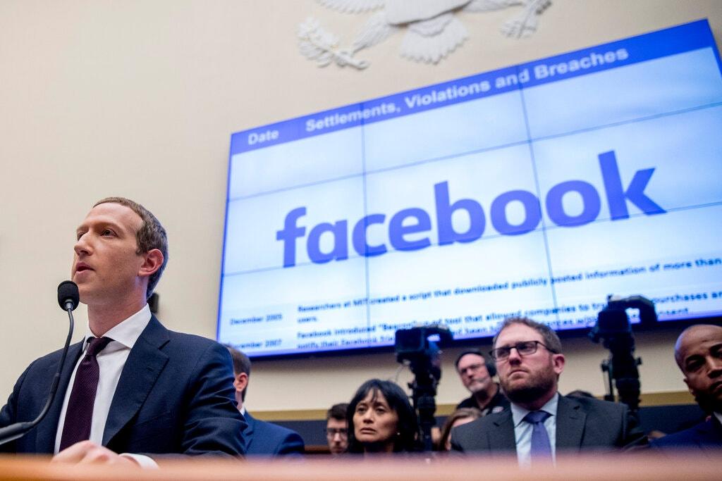 CEO Facebook Mark Zuckerberg tại Washington năm 2019. Ảnh: AP.