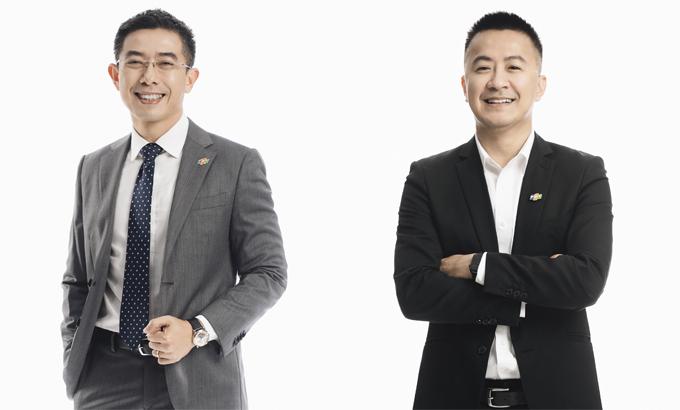 Ông Hoàng Việt Anh, Chủ tịch FPT Digital (trái) và ông Trần Huy Bảo Giang, CEO FPT Digital.