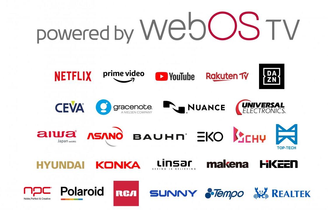 Các đối tác có hợp tác sử dụng và tích hợp trên nền tảng webOS.