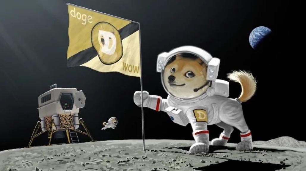 Ngày 24/2, Musk đăng ảnh chế về chú cho Shiba cắm cờ tiền ảo Dogecoin trên mặt trăng khiến giá tiền ảo này tăng đột biến.